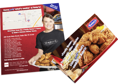 Babes Chicken – Map Mailer