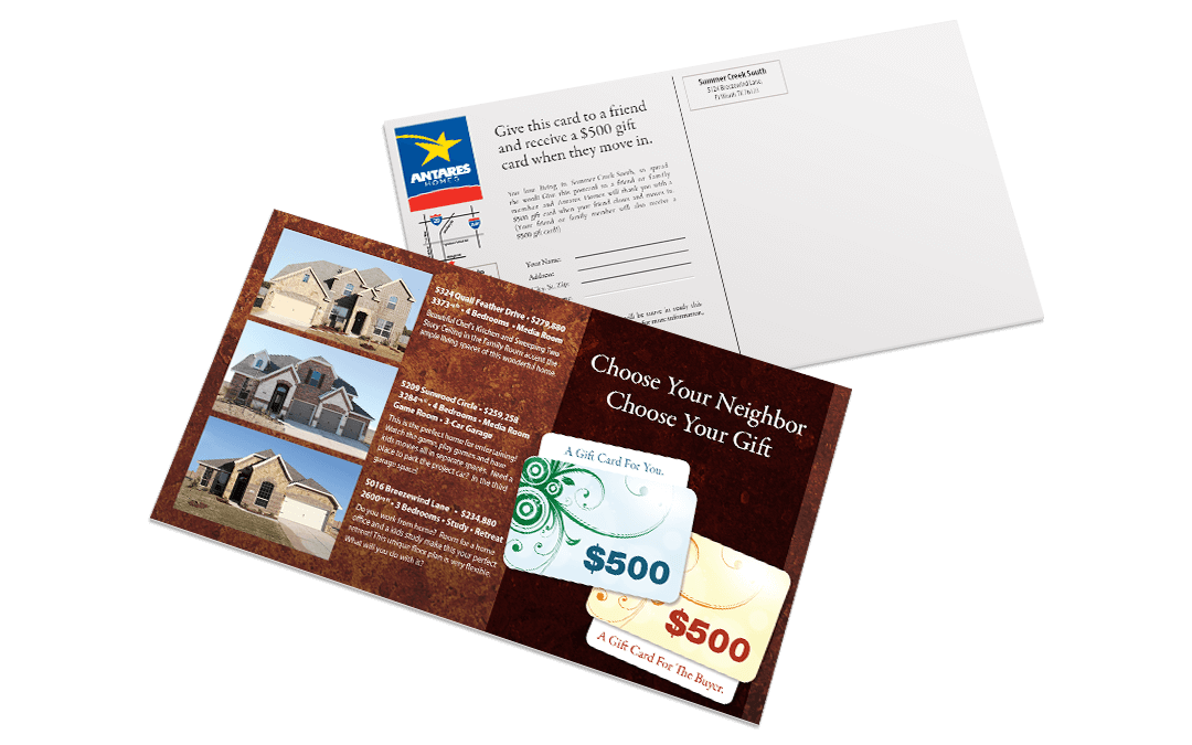 Antares Homes – SCS Postcard
