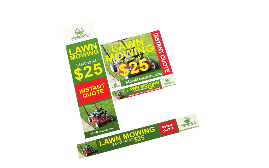Mow Managers – Banner Ads